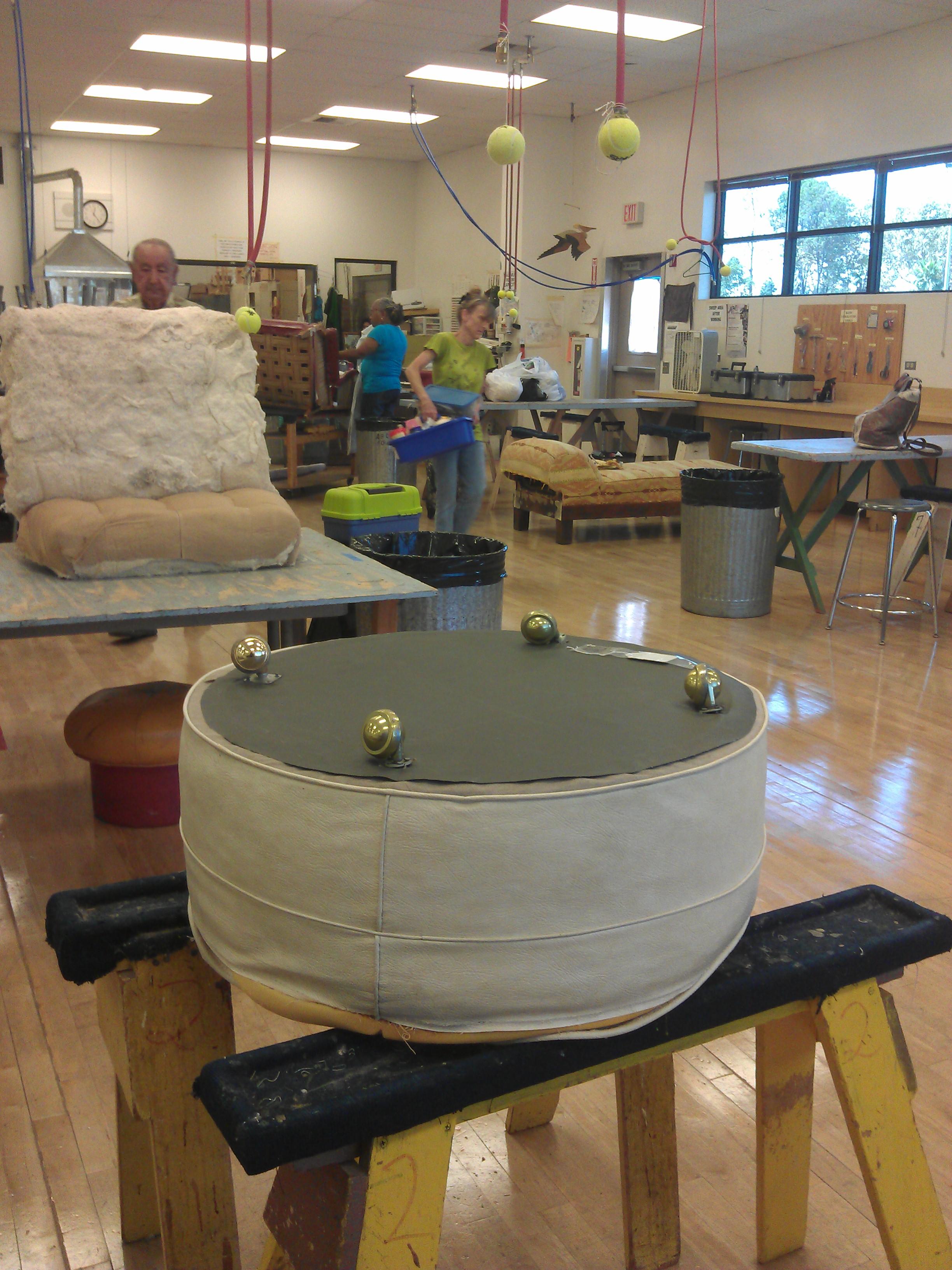 Upholstery Class Week 1 2 Barrington Blue